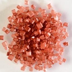 Cukrové krystalky SE TŘPYTEM - RUBÍNOVÉ, 100 g